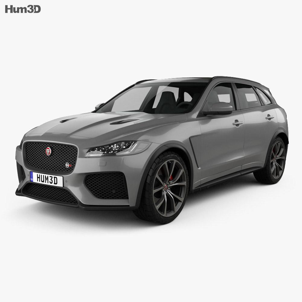 Jaguar F Pace Svr 2018 3d Model
