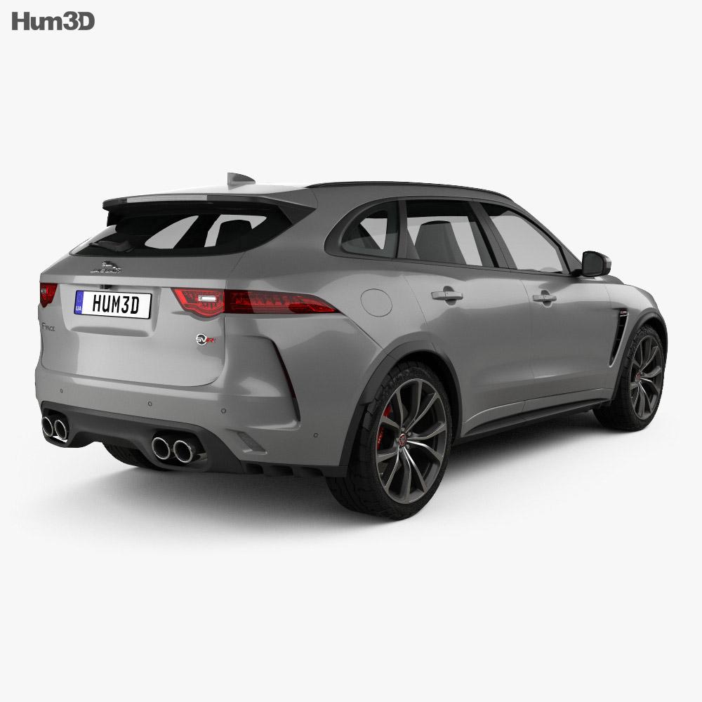 Jaguar F-Pace SVR 2018 3d model back view