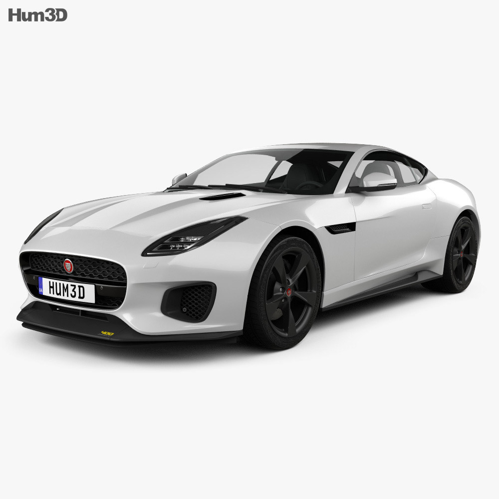 jaguar f-type 400 sport coupe 2017 3d model - hum3d
