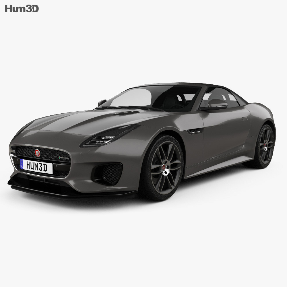 Jaguar F Type R Dynamic Convertible 2017 3D Model