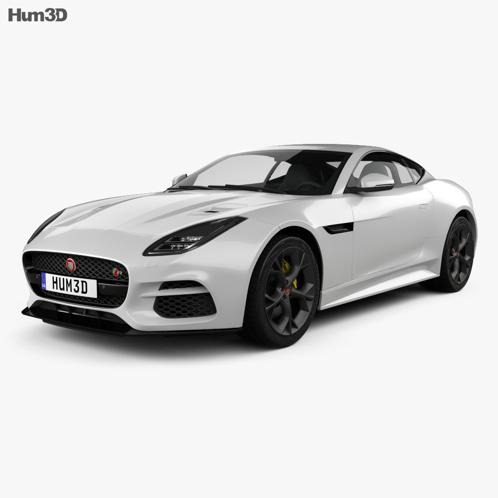 Jaguar F Type R Coupe 2017 3D Model