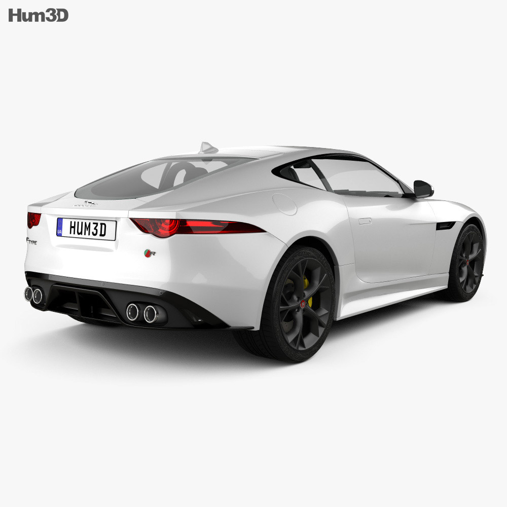 Jaguar F-Type R Coupe 2017 3d model