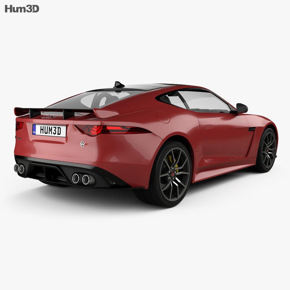 Jaguar F-Type SVR Coupe 2017 3d model