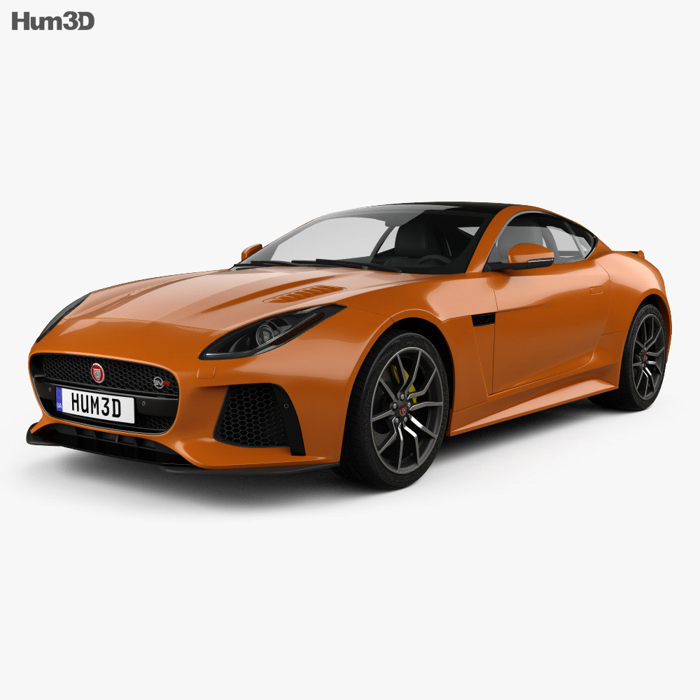 Jaguar F-Type SVR Coupe 2016 3d model