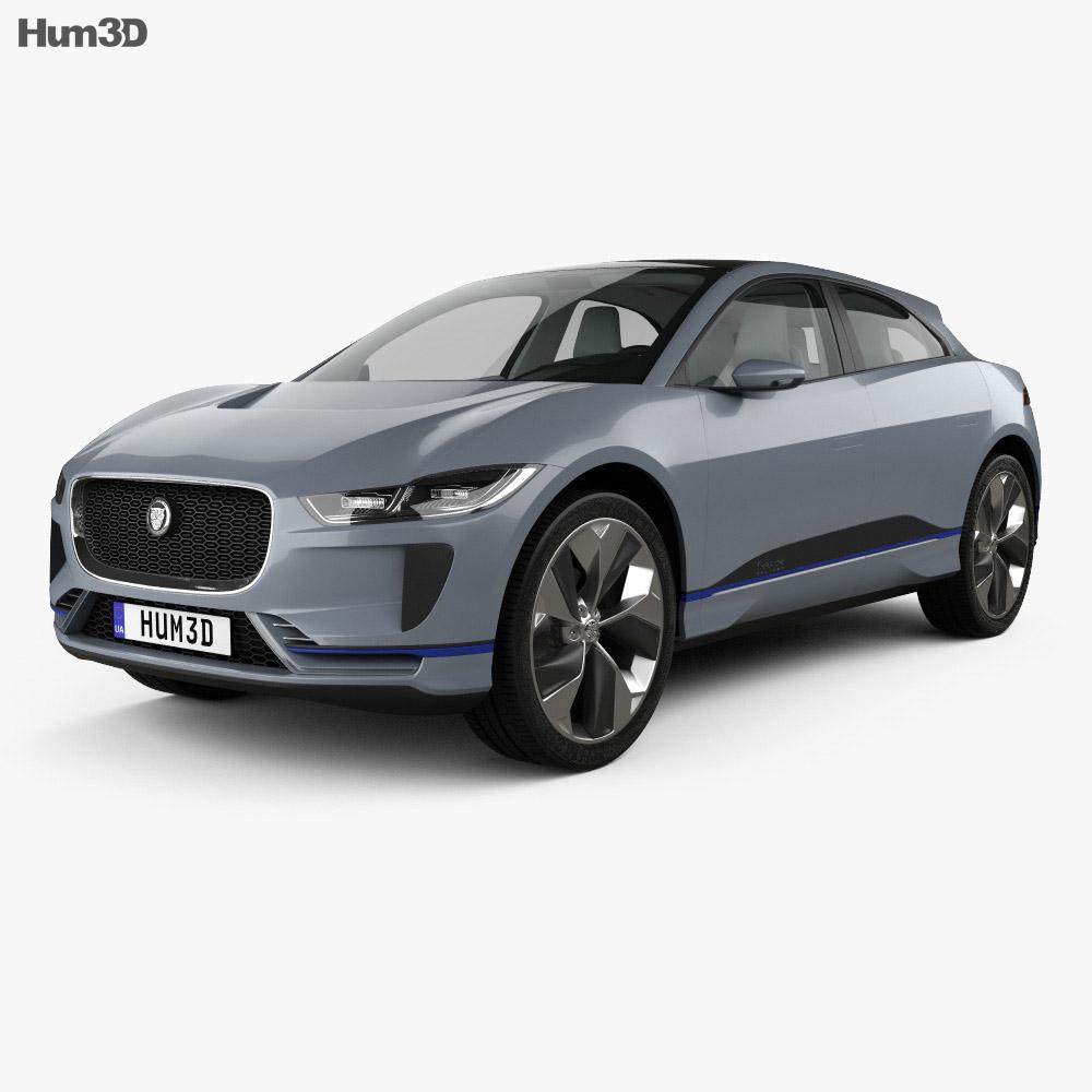 Jaguar I-Pace with HQ interior 2016 3d model