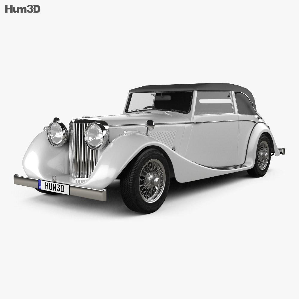 Jaguar Mark IV Drophead Coupe 1940 3d model