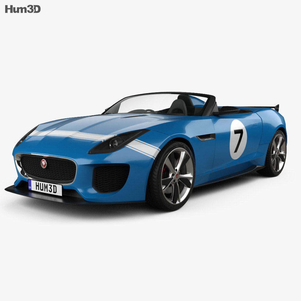 Jaguar Project 7 2013 3d model