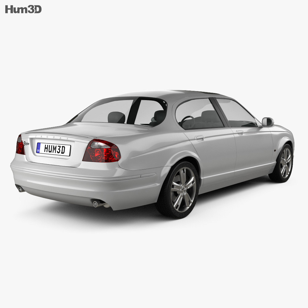 Jaguar S-Type 2008 3d model