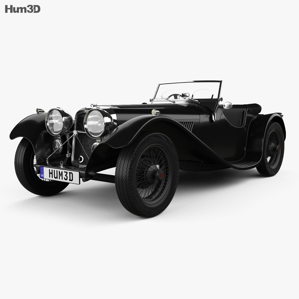 SS Jaguar 100 1936 3d model