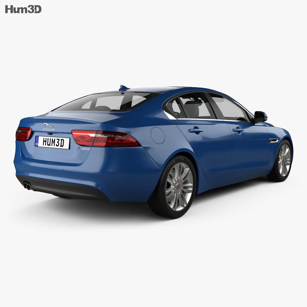 Jaguar XE 2015 3d model back view