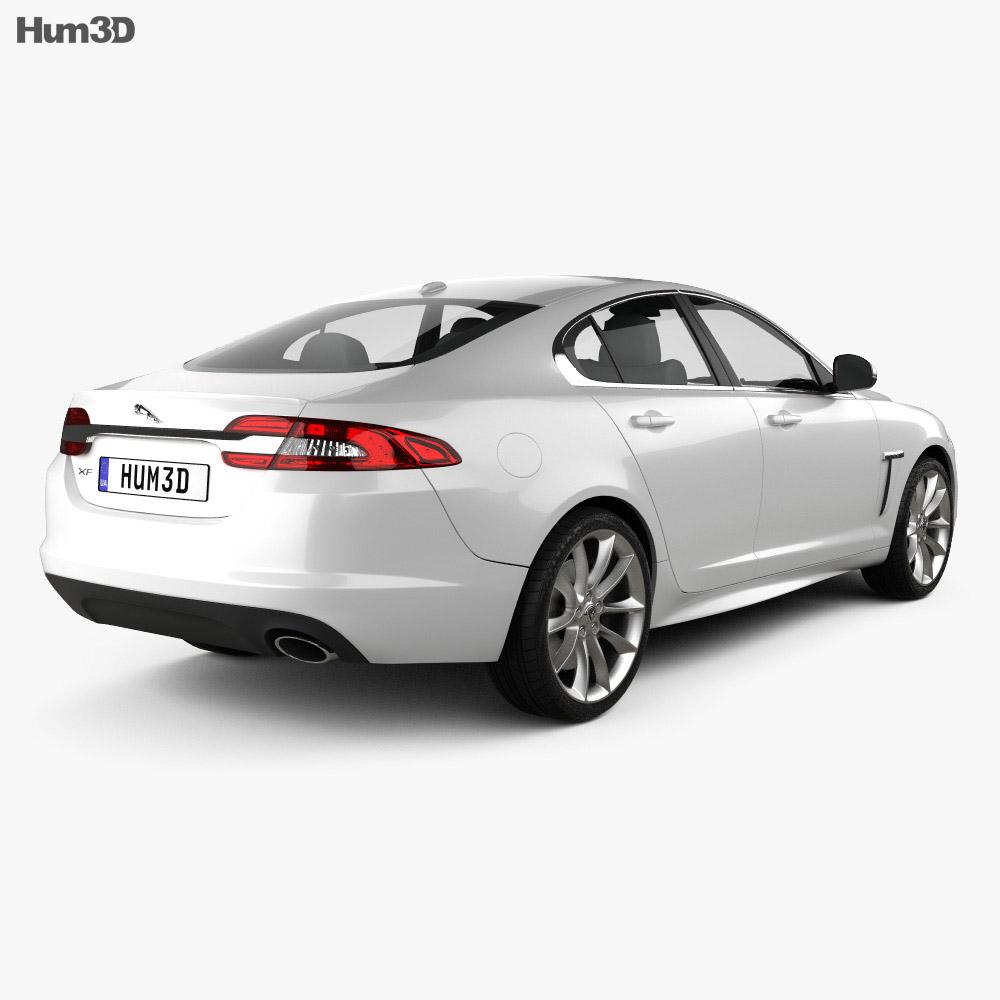 Jaguar XF 2012 3d model