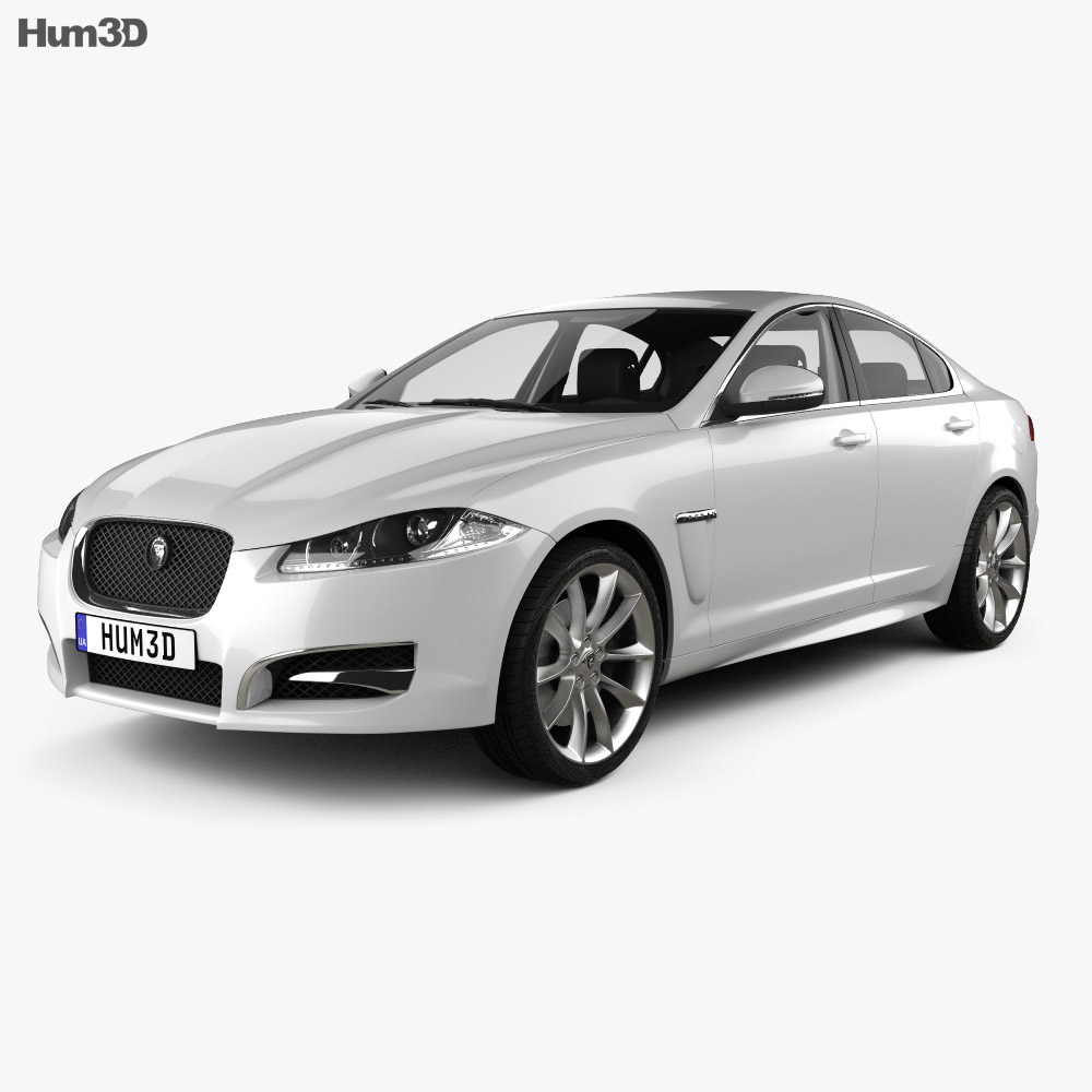 Jaguar XF with HQ interior 2012 3d model
