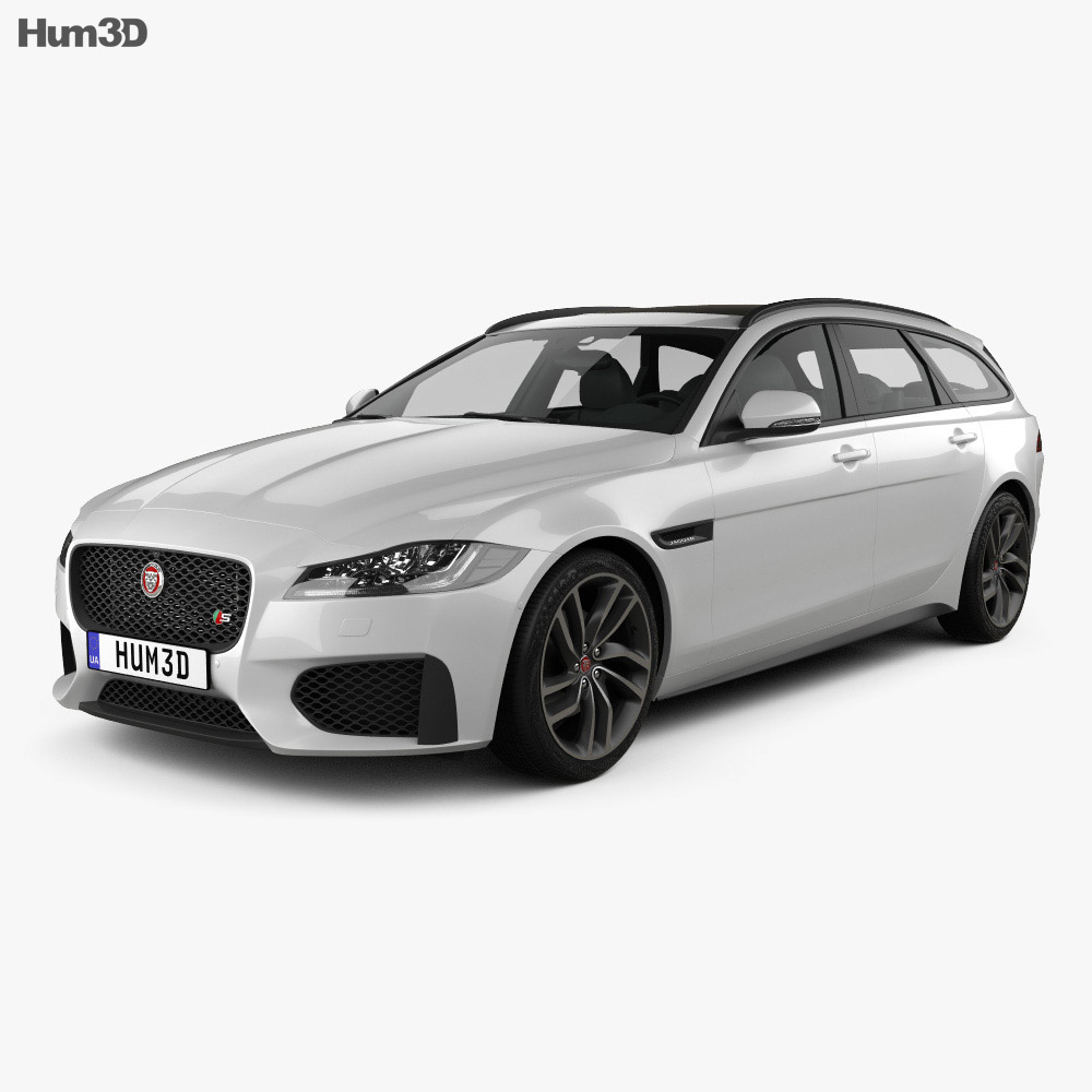 Jaguar XF Sportbrake S 2016 3D Model