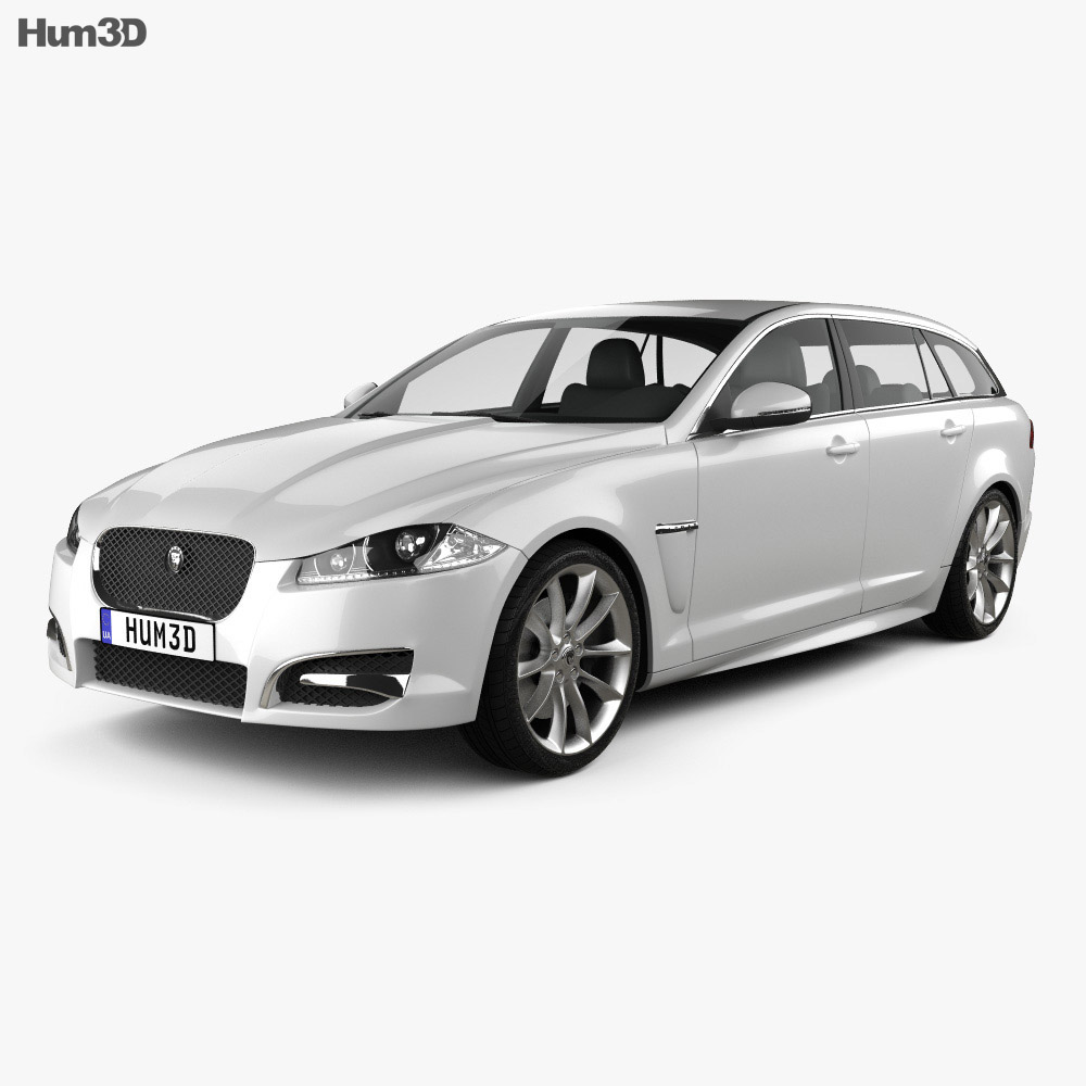 Jaguar XF Sportbrake 2012 3D Model