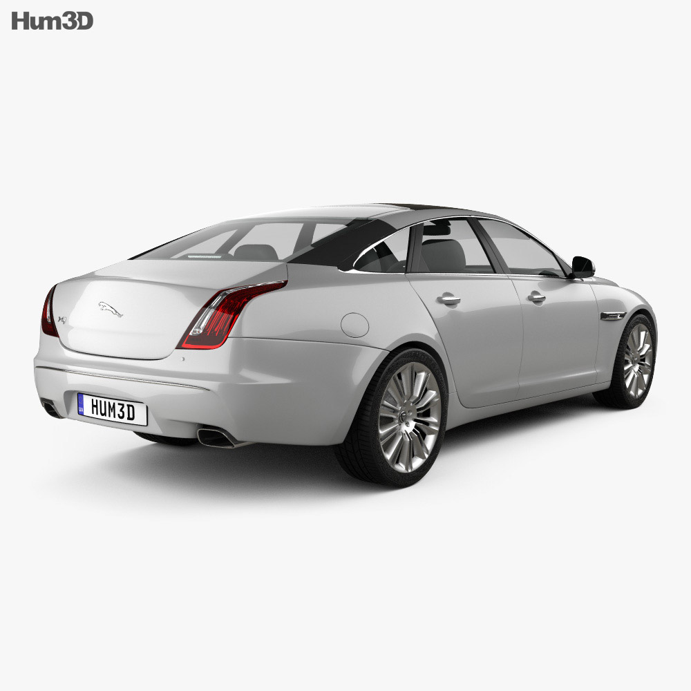 2010 Jaguar Coupe: Jaguar XJ (X351) 2010 3D Model