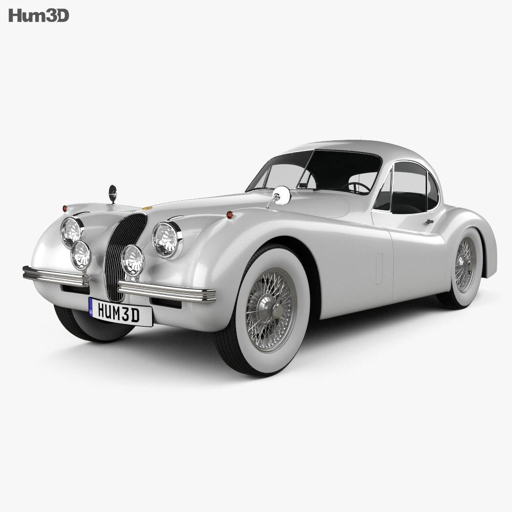 Jaguar XK120 coupe 1953 3d model