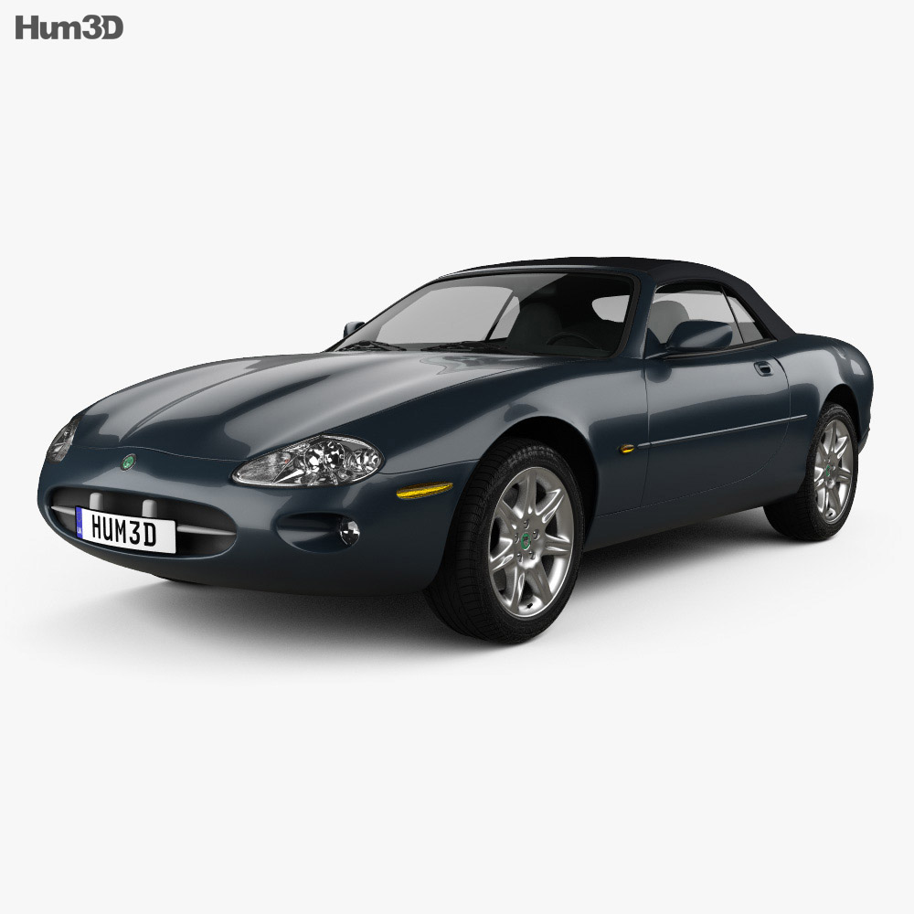 Price Of Jaguar Convertible: Jaguar XK8 Convertible 1996 3D Model