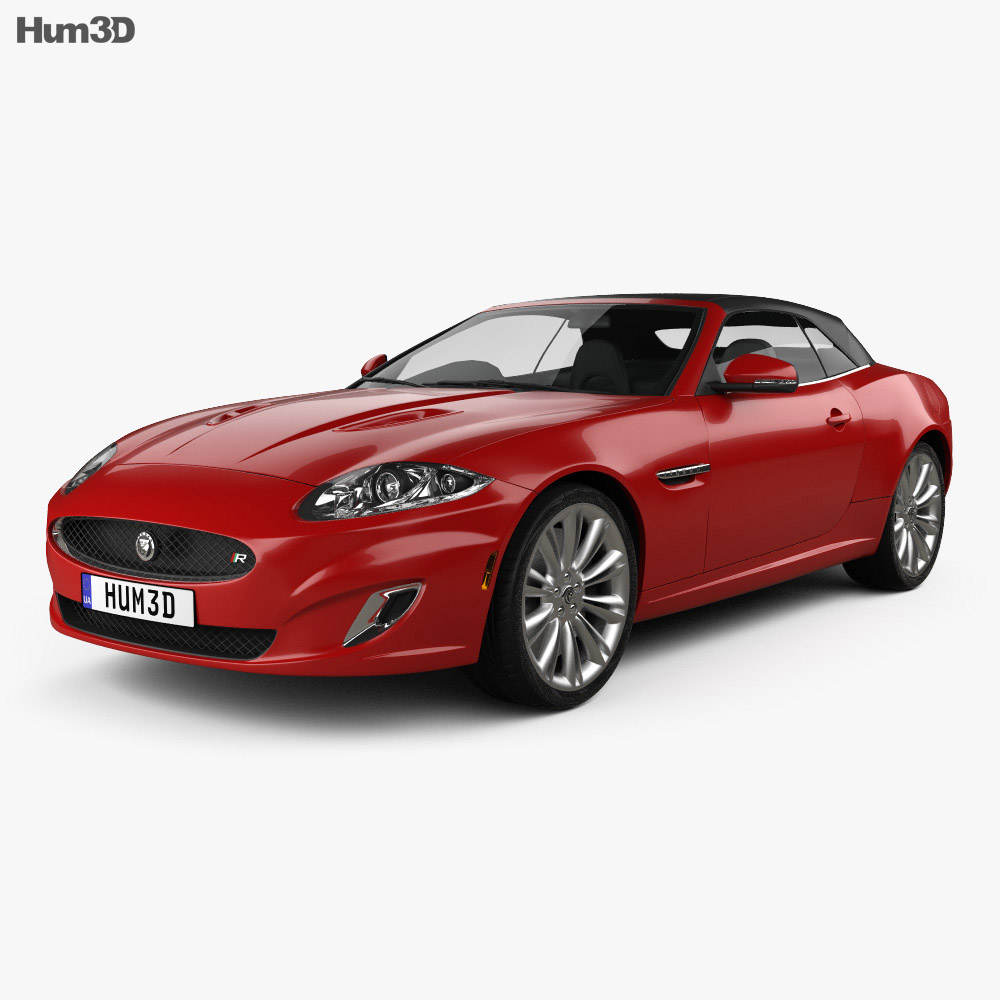 Jaguar XKR convertible 2011 3d model