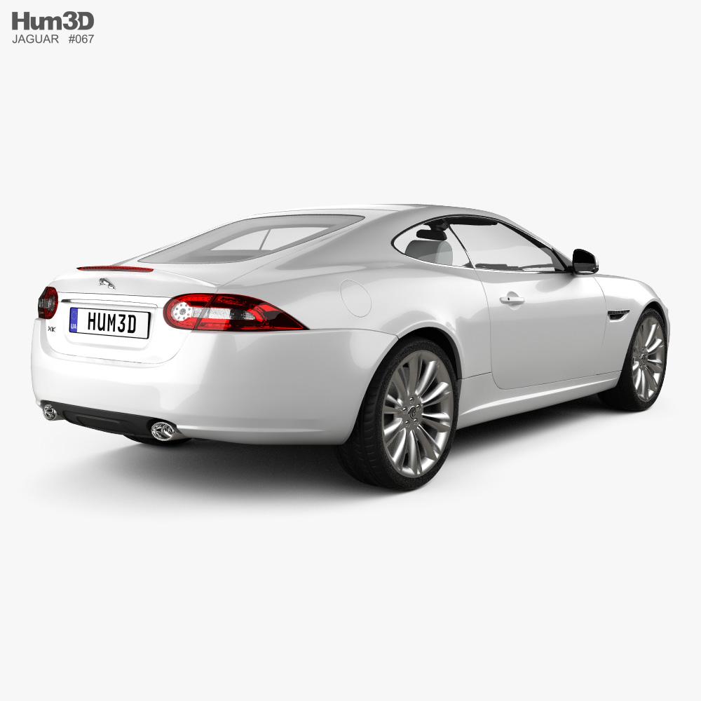 Jaguar XK coupe with HQ interior 2011 3d model back view
