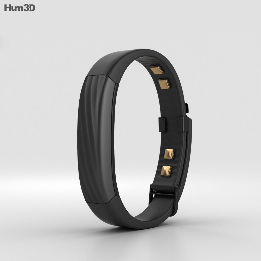 Jawbone UP3 Black Twist 3d model