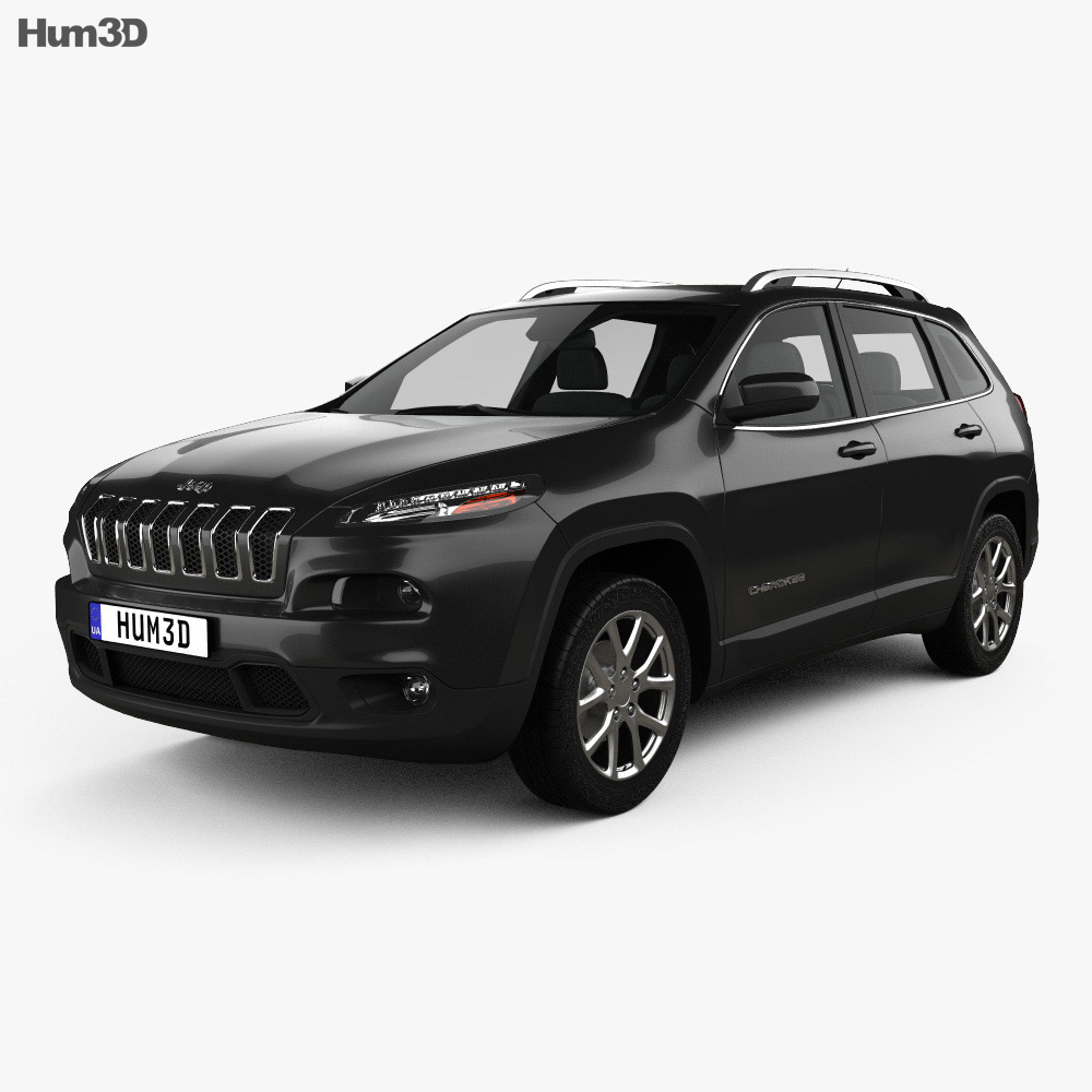 jeep cherokee kl latitude 2013 3d model hum3d. Black Bedroom Furniture Sets. Home Design Ideas