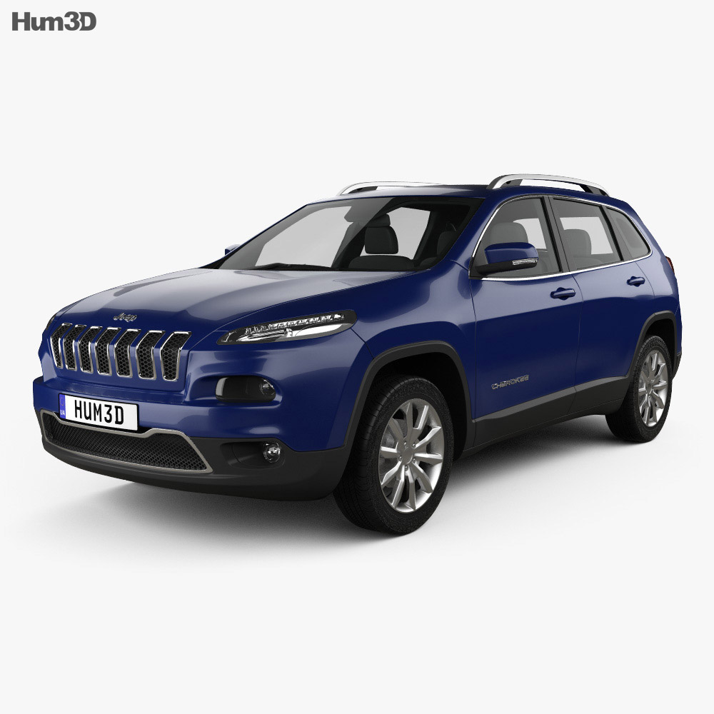Jeep Cherokee Limited 2014 3d model