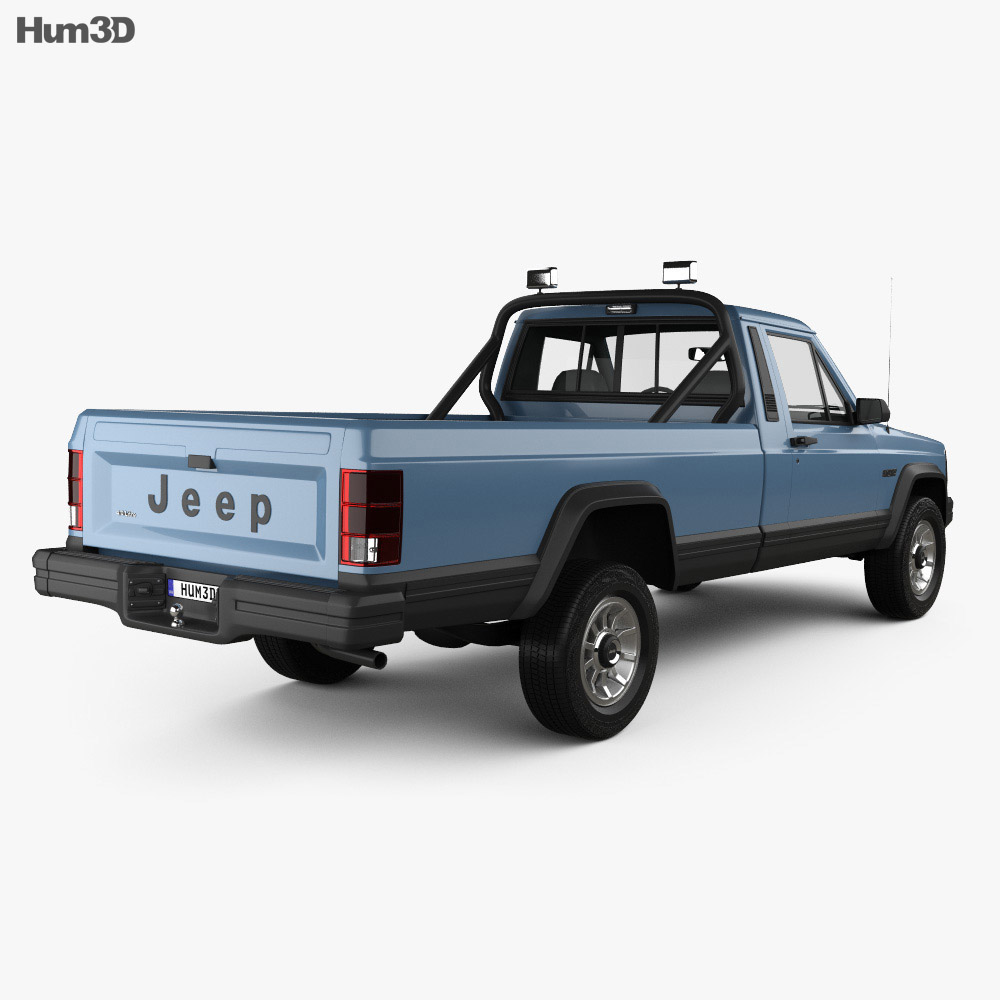 Jeep Comanche MJ 1984 3d model