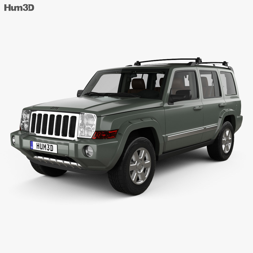 jeep commander limited with hq interior 2006 3d model vehicles on hum3d. Black Bedroom Furniture Sets. Home Design Ideas
