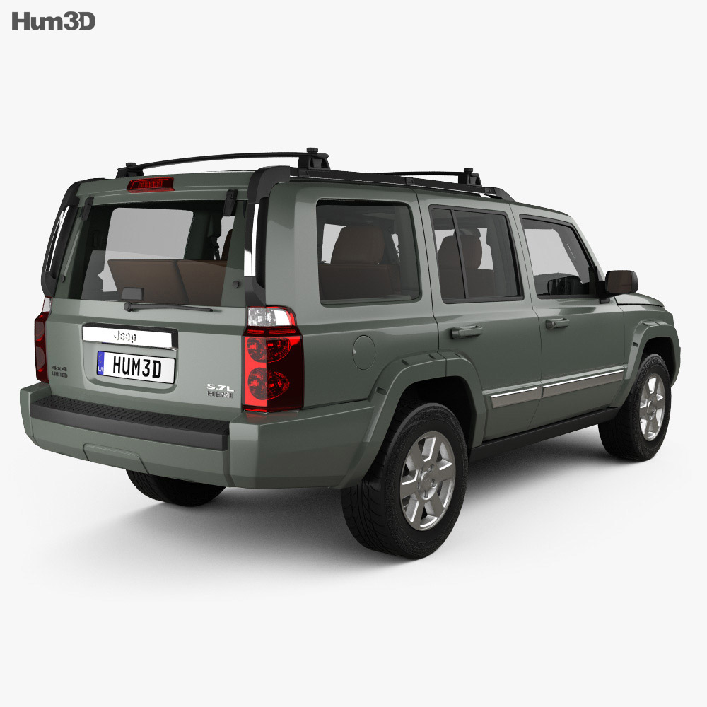 Jeep Commander Limited with HQ interior 2006 3d model