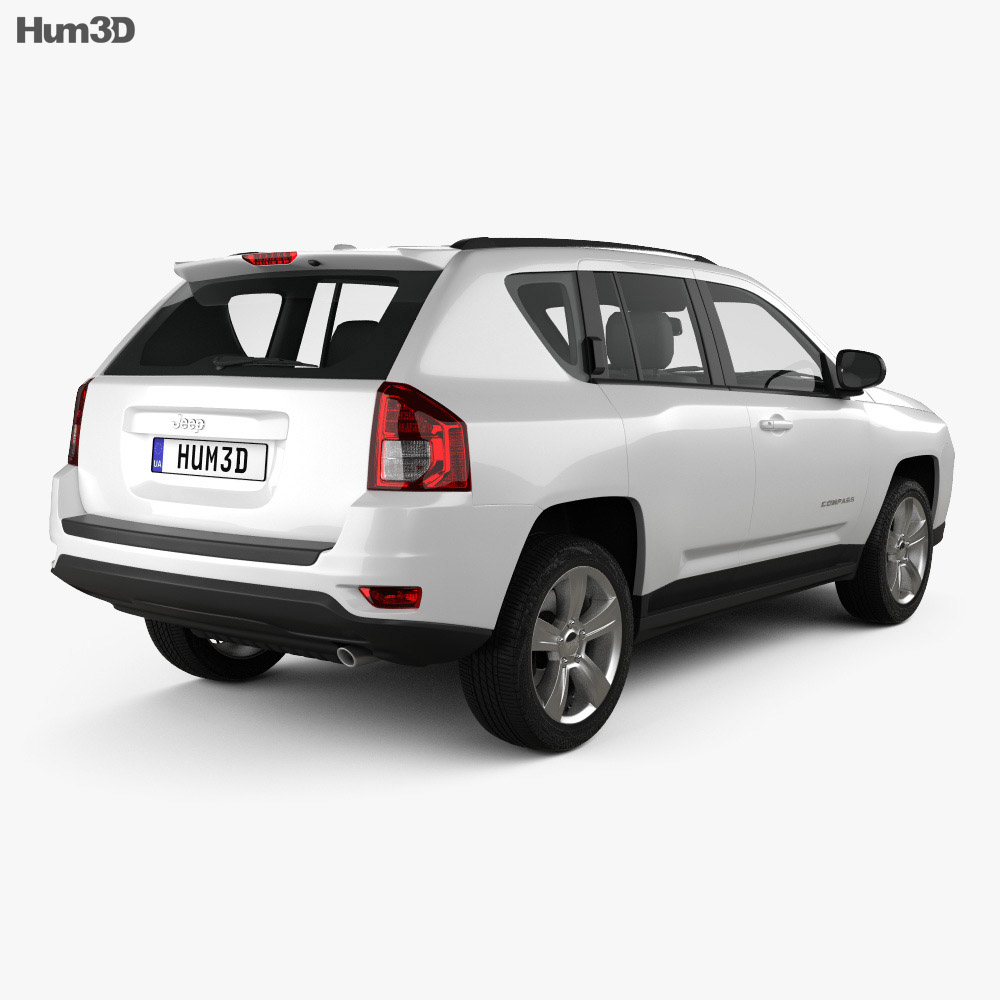 Jeep Compass 2012 3d model back view