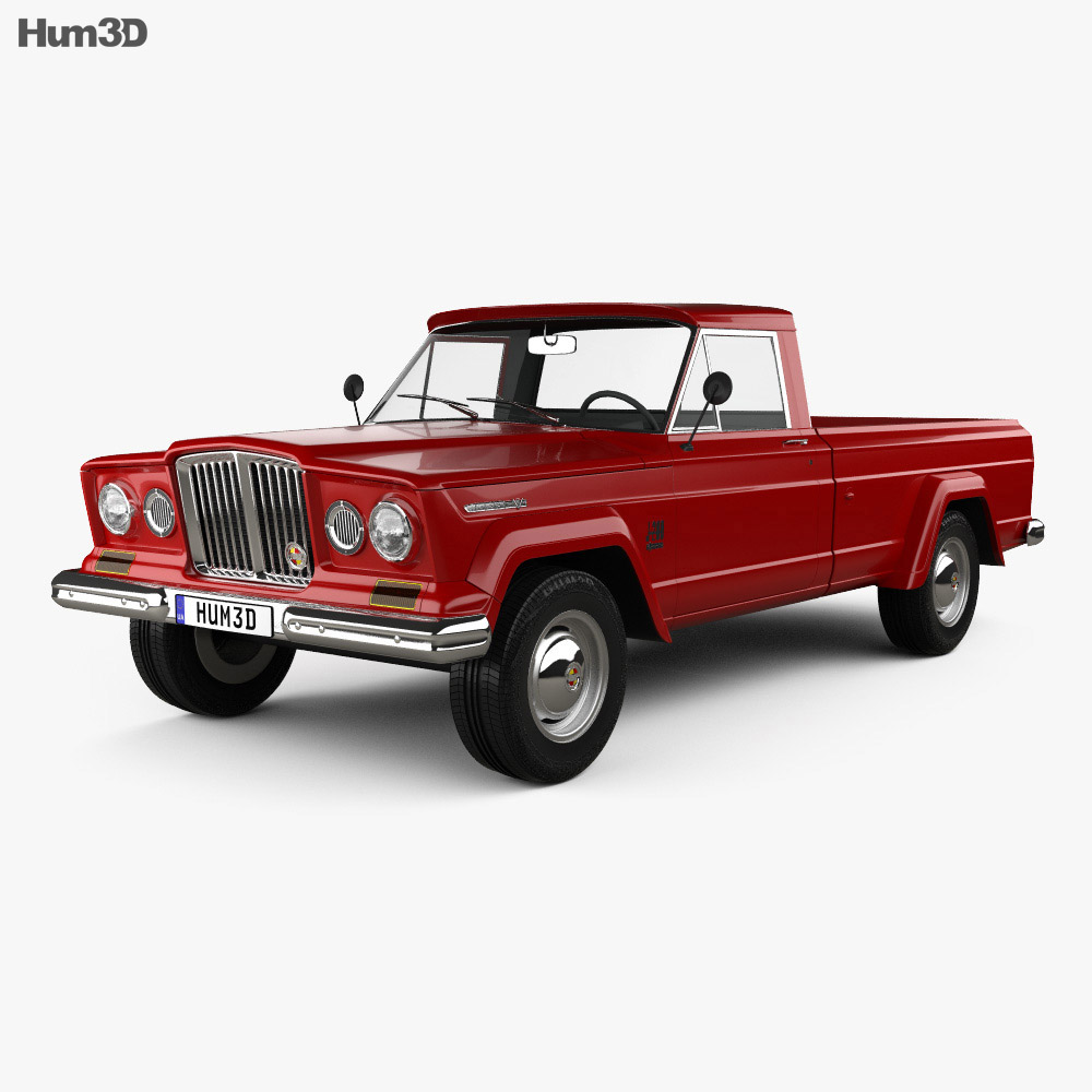 Jeep Gladiator 1962 3d Model Vehicles On Hum3d