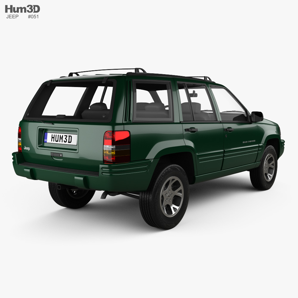 Jeep Grand Cherokee 1996 3d model back view