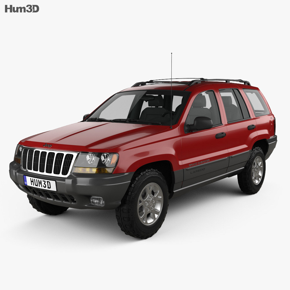jeep grand cherokee wj 1998 3d model vehicles on hum3d. Black Bedroom Furniture Sets. Home Design Ideas