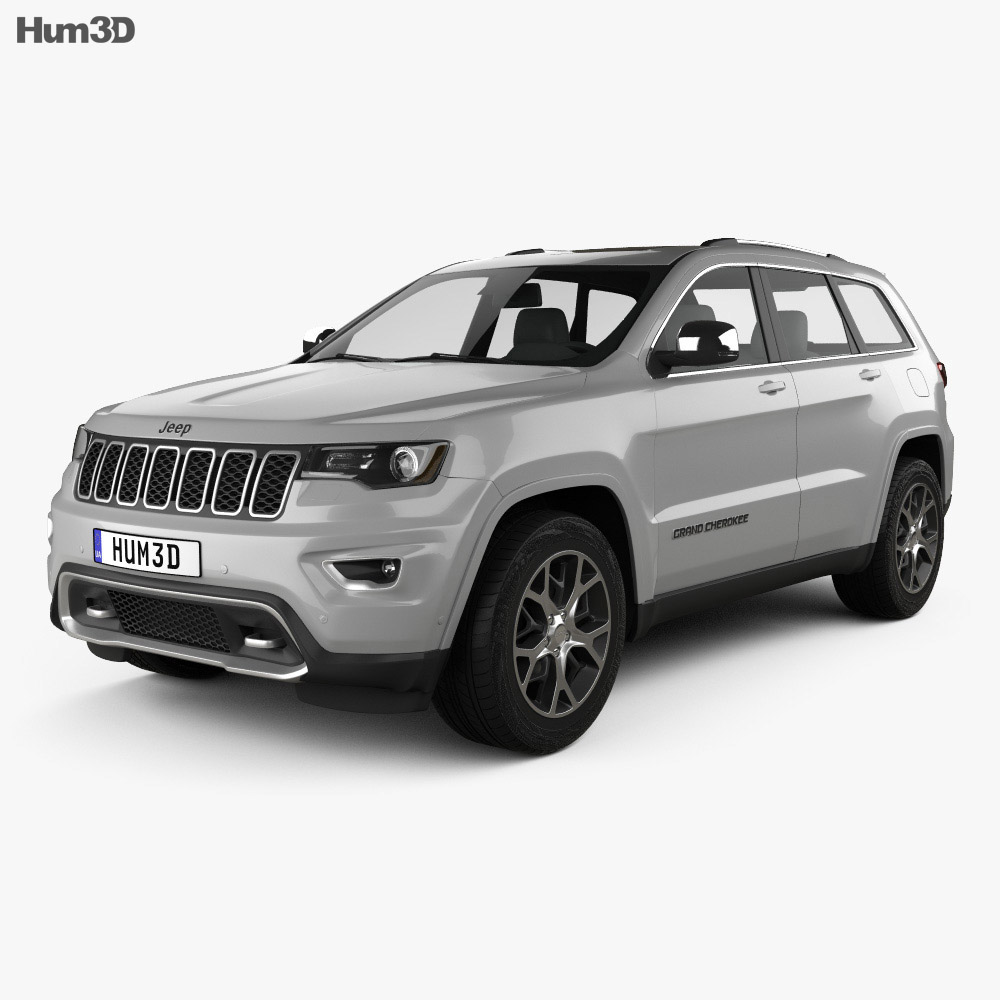 Jeep Grand Cherokee Overland 2018 3d model