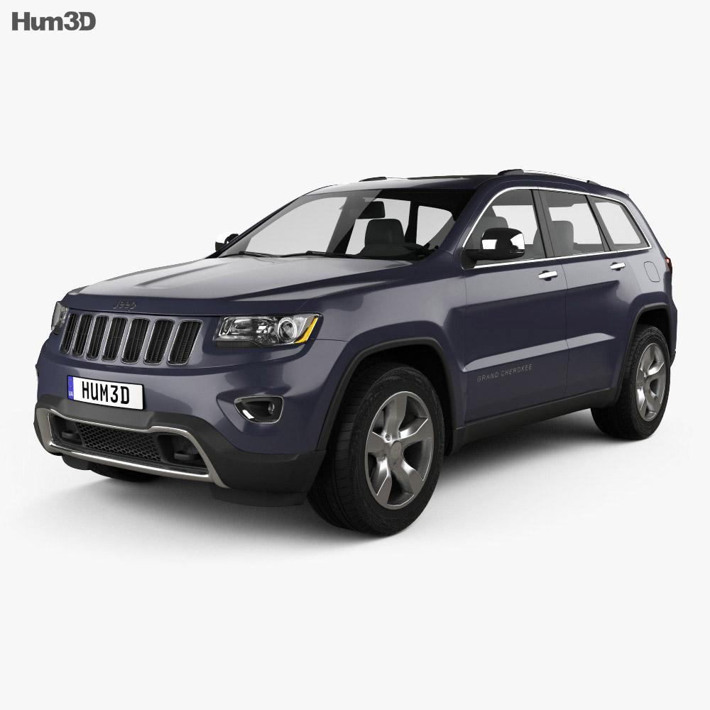 Jeep Grand Cherokee Overland 2014 3d model