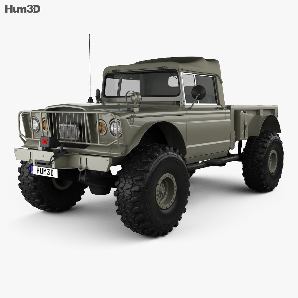 Jeep Kaiser M715 Olive Drab Ogre 1967 3d model