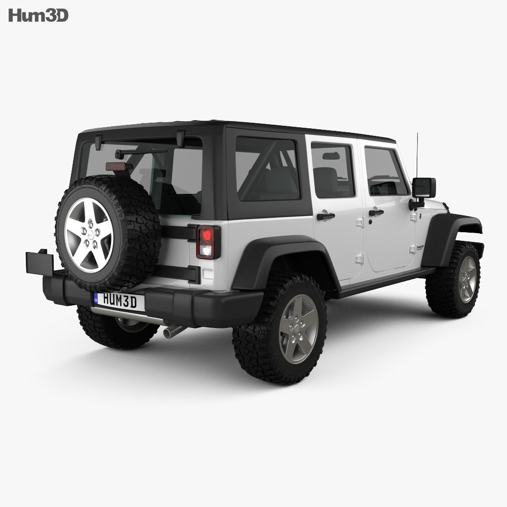 Jeep Wrangler JK Unlimited 5door 2012 3d model
