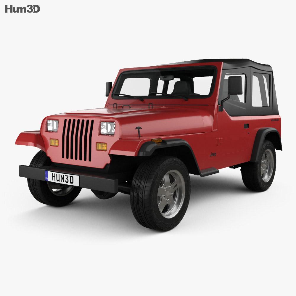 jeep wrangler yj 1987 3d model hum3d. Black Bedroom Furniture Sets. Home Design Ideas