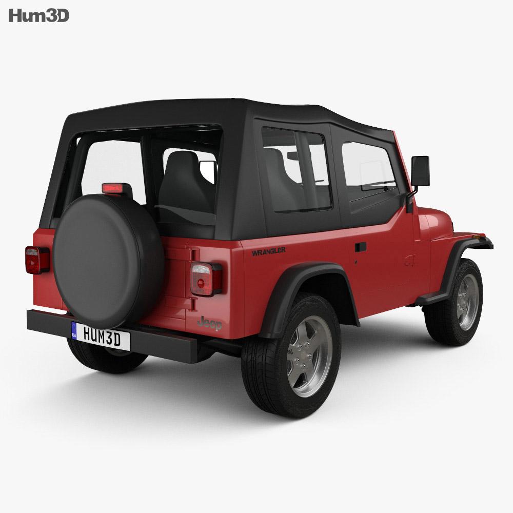 Jeep Wrangler YJ 1987 3d model