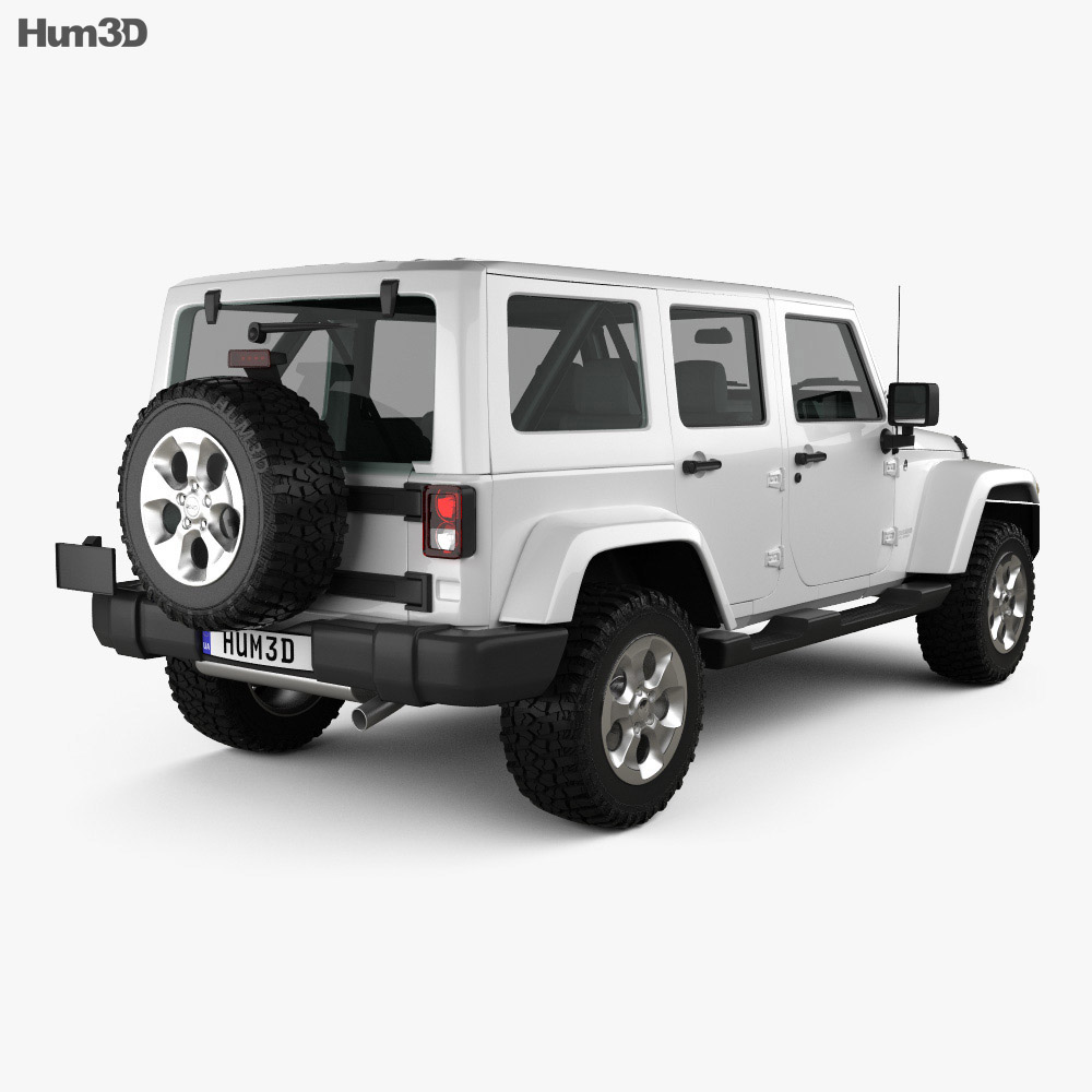 Jeep Wrangler Unlimited Sahara 2012 3d model