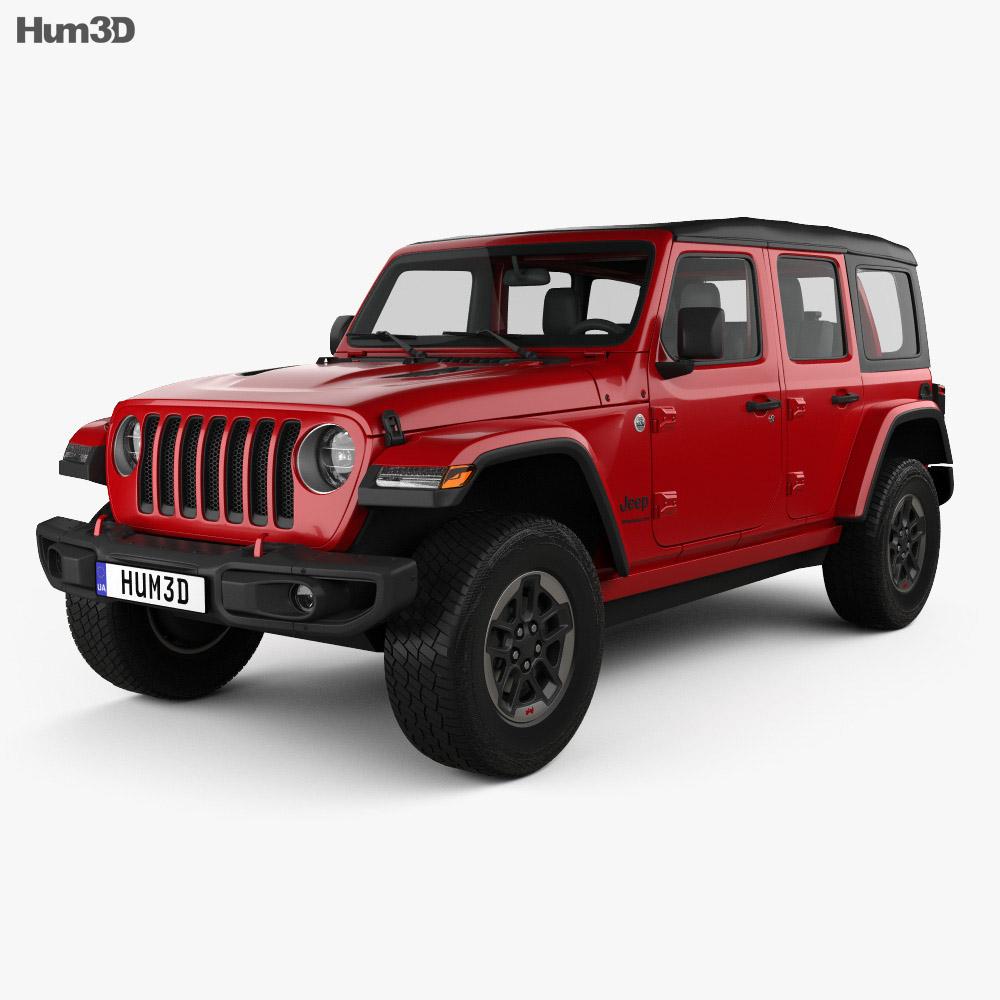 Jeep Wrangler 4 Door Rubicon 2018 3d Model Hum3d