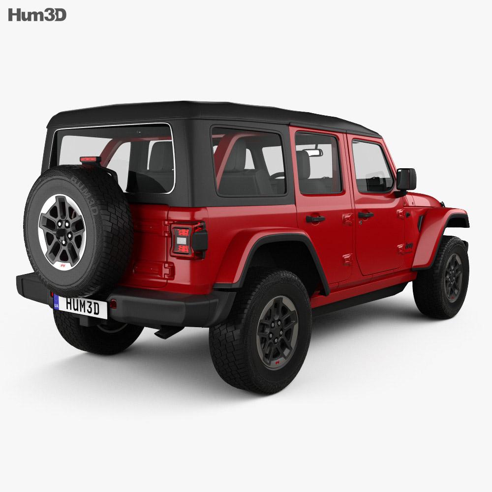 Jeep Wrangler 4-door Rubicon 2018 3d model
