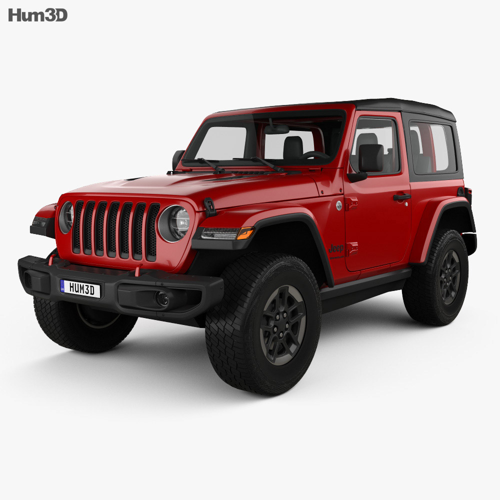 jeep wrangler rubicon 2018 3d model vehicles on hum3d. Black Bedroom Furniture Sets. Home Design Ideas
