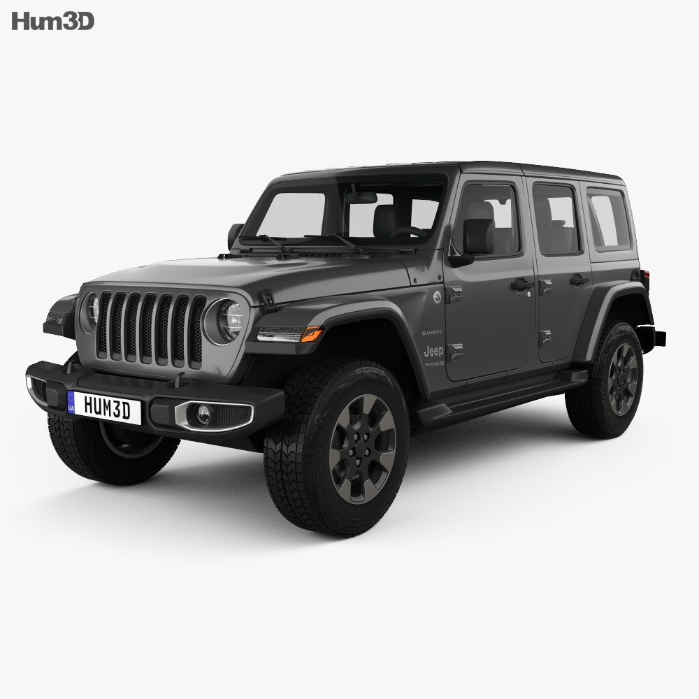 Jeep Wrangler Unlimited Sahara 2018 3d Model Vehicles On Hum3d