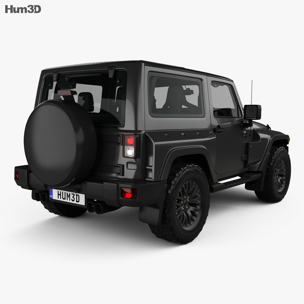 Jeep Wrangler Project Kahn JC300 Chelsea Black Hawk 2-door ...