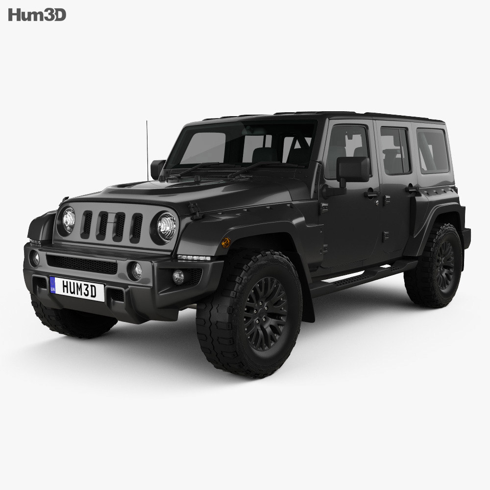 Jeep Wrangler Project Kahn JC300 Chelsea Black Hawk 4-door 2016 3d model