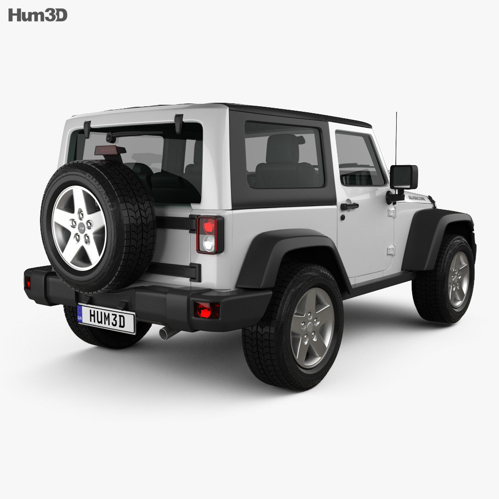 Jeep Wrangler Rubicon Hardtop 2010 3d model