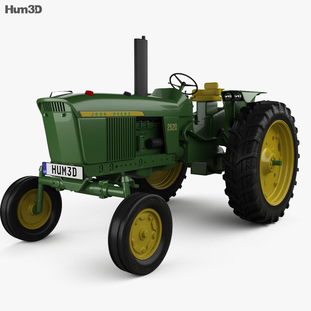 John Deere 2520 2012 3d model