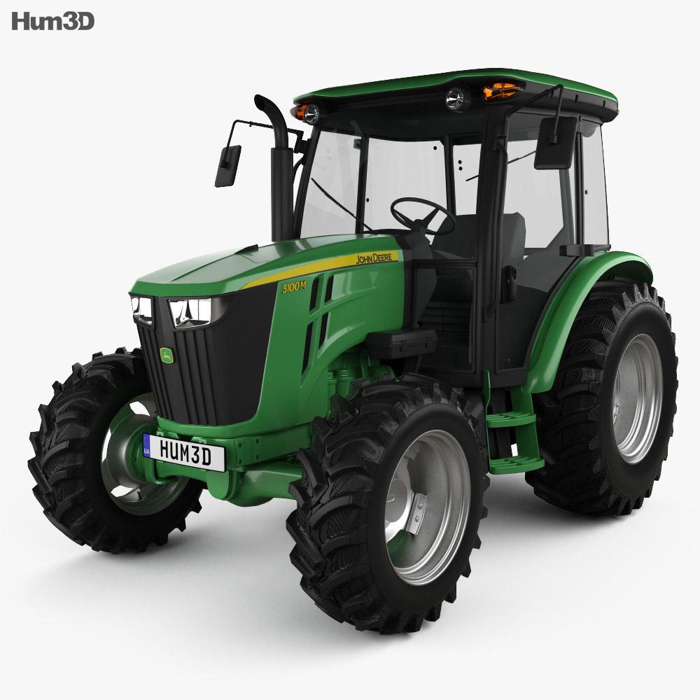 John Deere 5100M Utility Tractor 2013 3d model