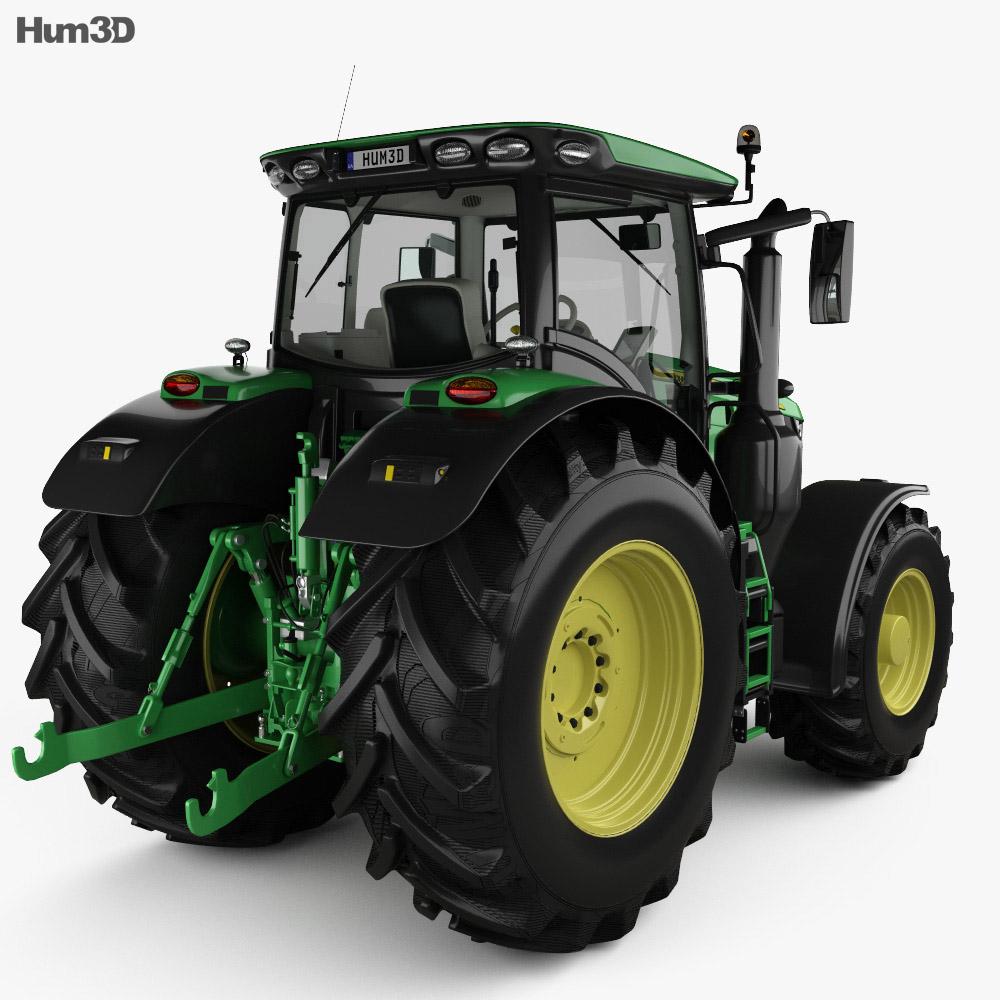 John Deere 6250R with HQ interior 2016 3d model
